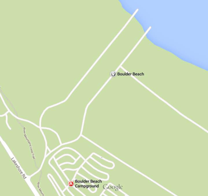 Boulder Beach Map
